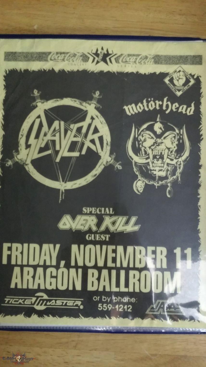 T Shirt Sale Flyer Elegant Slayer Motorhead Overkill tour Flyer