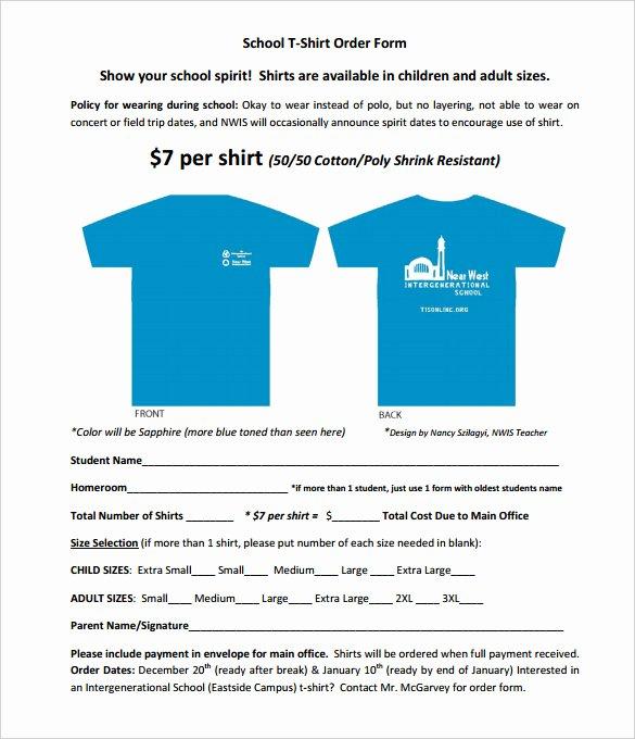 T Shirt Sale Flyer Fresh 26 T Shirt order form Templates Pdf Doc