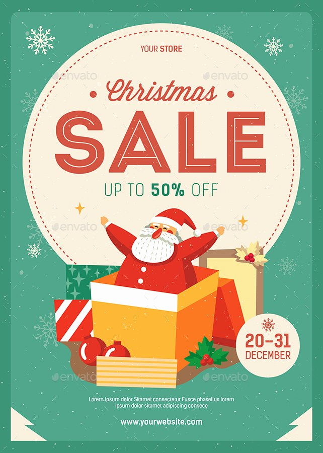 T Shirt Sale Flyer Fresh Christmas Sale Flyer by Guuver