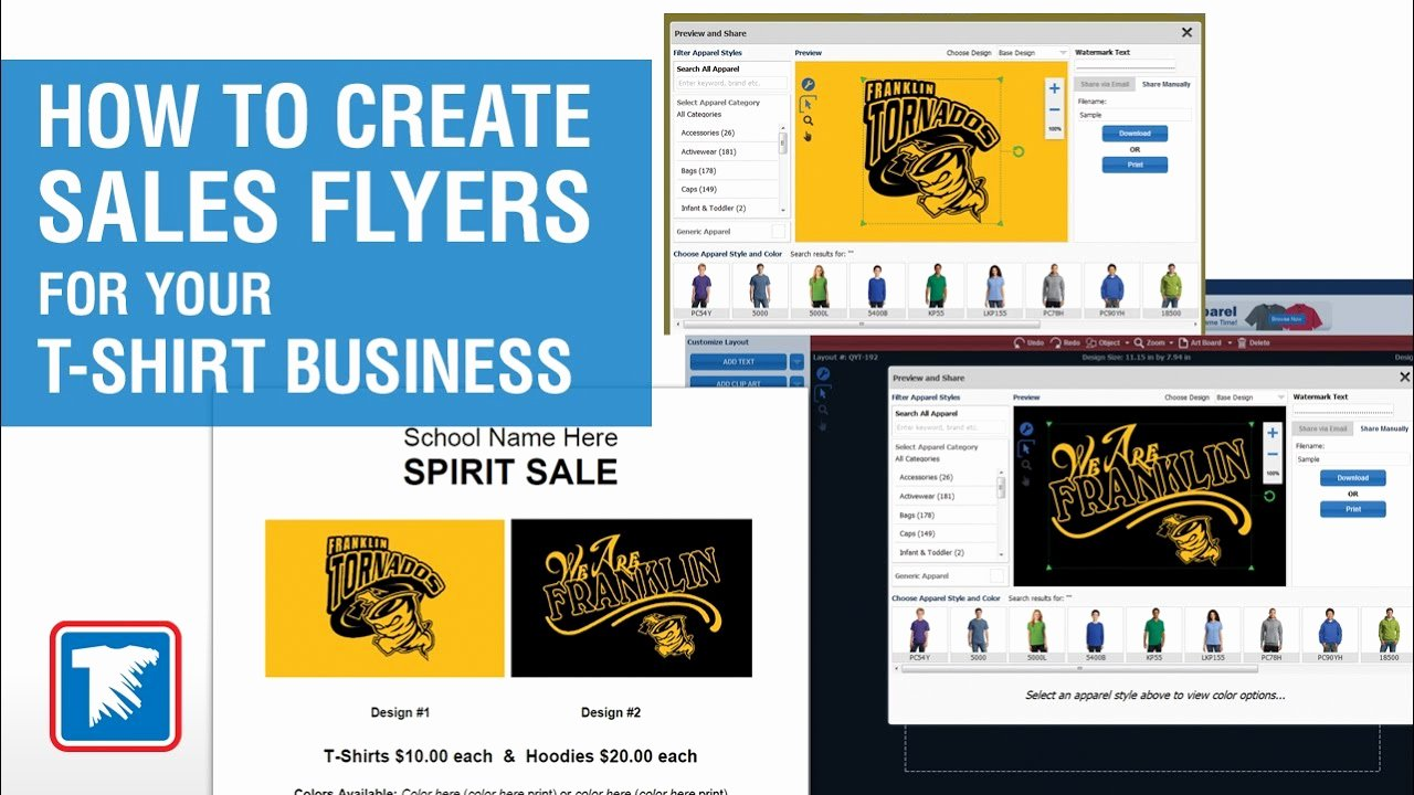 T Shirt Sale Flyer Fresh How to Create Sales Flyers for Your T Shirt Business