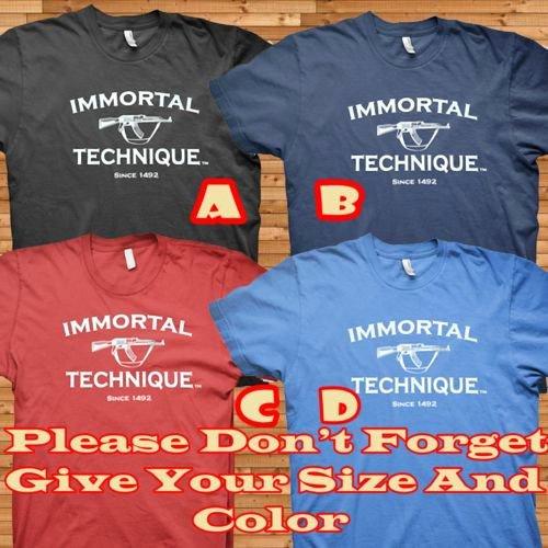 T Shirt Sale Flyer Fresh Sale Immortal Technique Ak47 T Shirt Size S M L Xl
