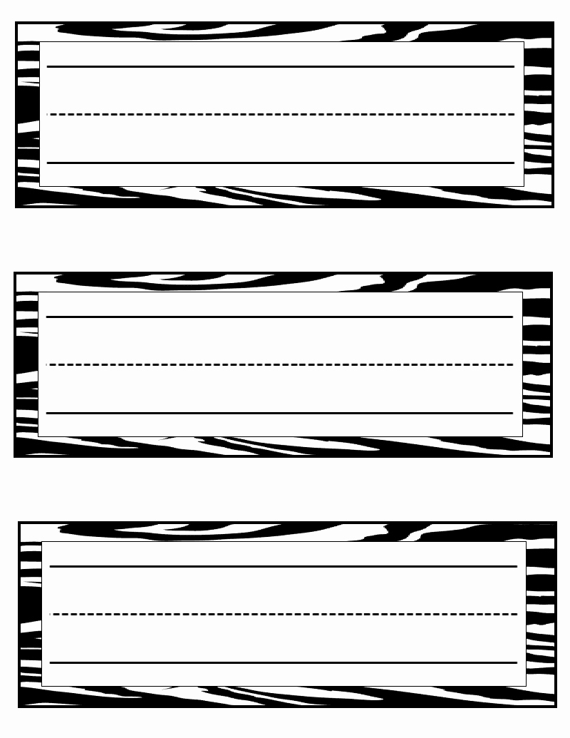 Table Name Tag Template Awesome Tales Of A Teacherista Zebra Print Goo S