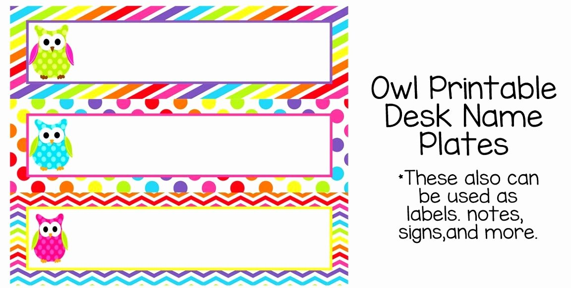 Table Name Tag Template Beautiful 7 Best Owl Tables Labels Printable Free Example Table