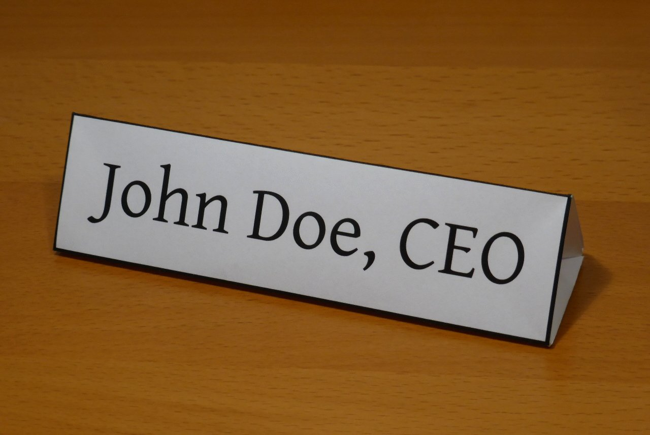 Table Name Tag Template Beautiful Name Plate by Michał Kosmulski — Folding Instructions and