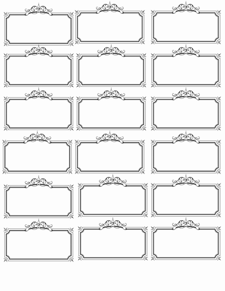 Table Name Tag Template Elegant Name Tag Template Invites Illustrations