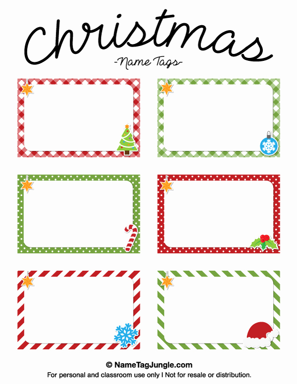 Table Name Tag Template Inspirational Free Printable Christmas Name Tags the Template Can Also