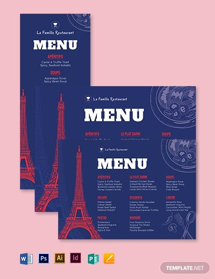 Table Tent Template Illustrator Best Of 405 Free Menu Templates Pdf Word Psd