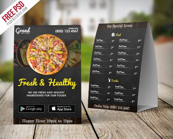 Table Tent Template Illustrator Fresh 27 Creative Table Tent Templates Free & Premium Download