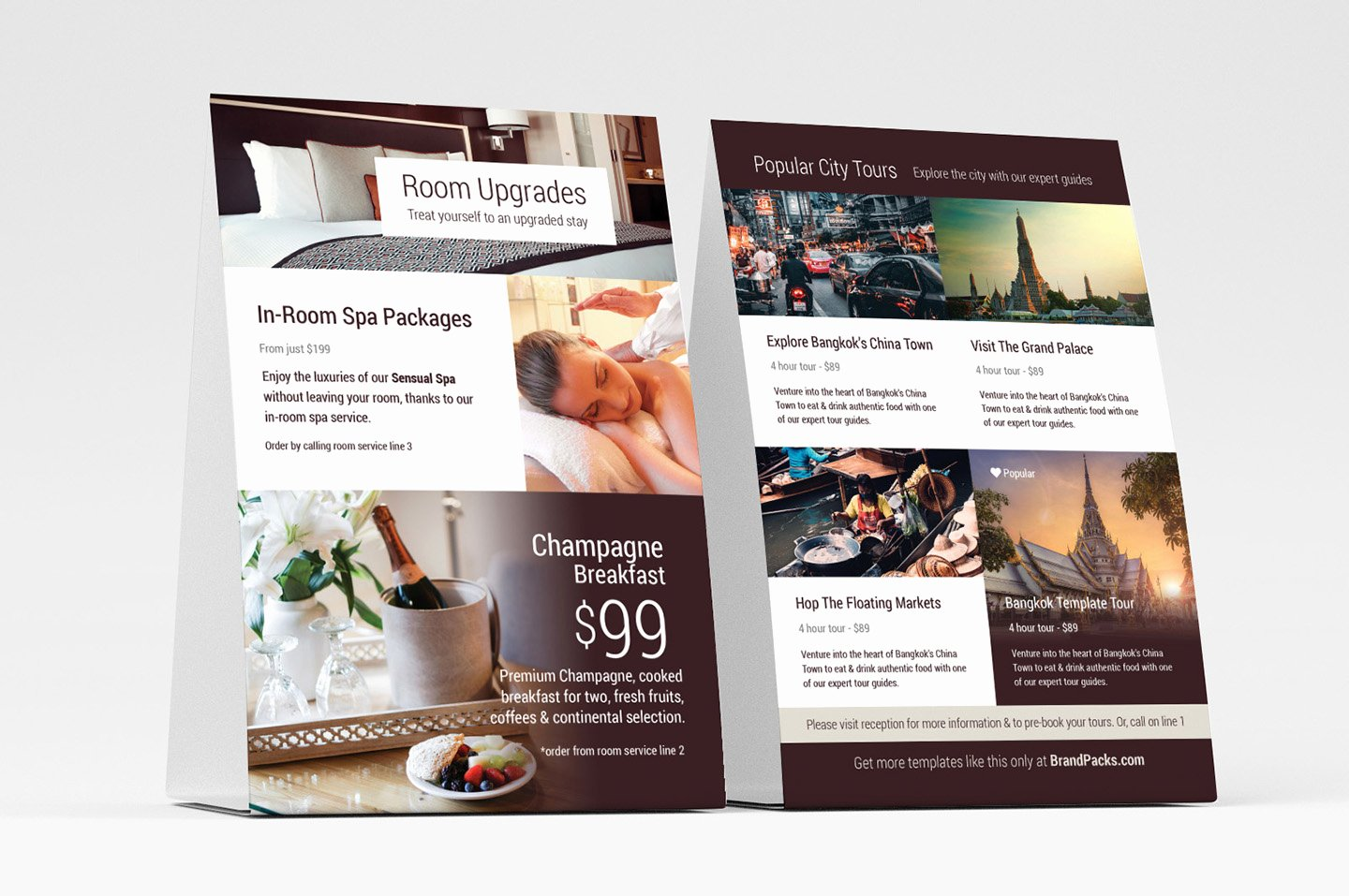 Table Tent Template Illustrator Lovely Hotel Flyer Templates V2 Psd Ai & Vector Brandpacks