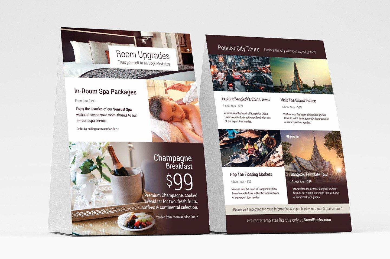 Table Tent Template Illustrator Lovely Hotel Flyer Templates V2 Psd Ai & Vector Brandpacks