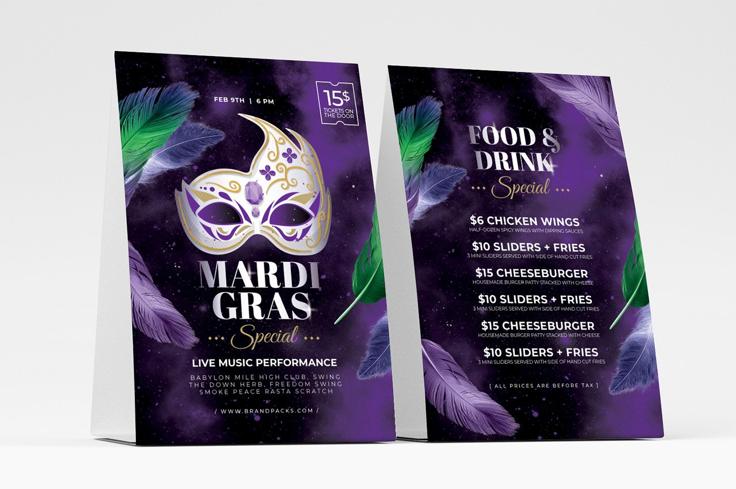 Table Tent Template Illustrator Unique Mardi Gras Flyer Templates Psd Ai & Vector Brandpacks