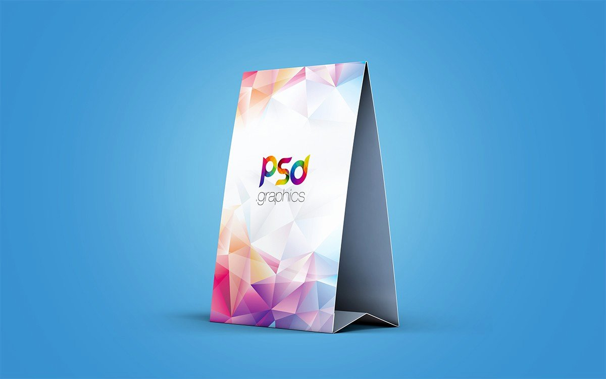 Table Tent Template Photoshop Beautiful Table Tent Card Mockup Psd Download Psd