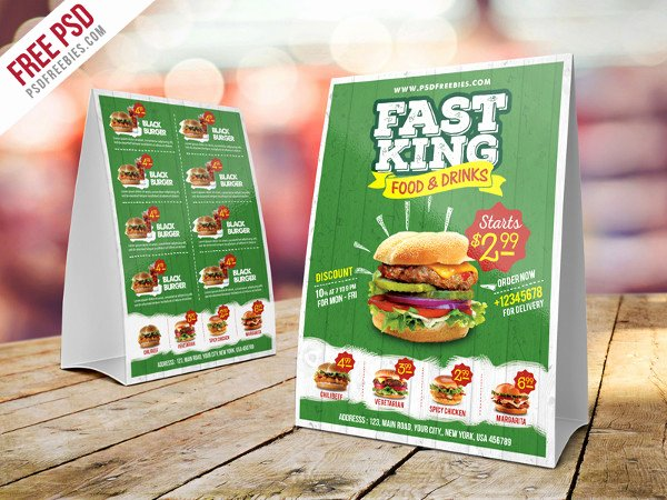 Table Tent Template Photoshop Inspirational 27 Creative Table Tent Templates Free & Premium Download