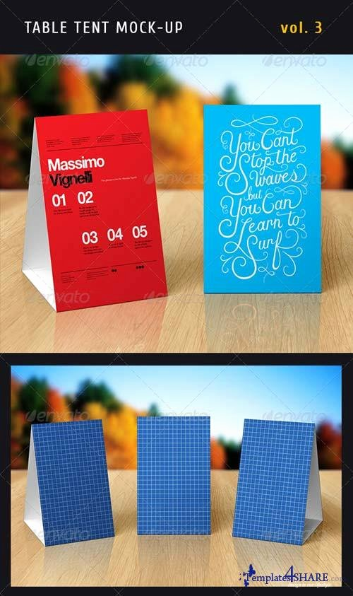 Table Tent Template Photoshop Lovely Graphicriver Paper Table Tent Mock Up Template Vol 3