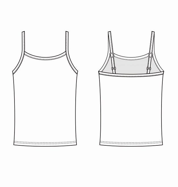 Tank top Template Best Of Sleeveless Tank top Fashion Flat Technical Drawing