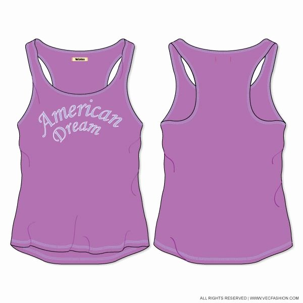 Tank top Template Fresh Women S Racer Back Easy Fit Tank top Vector Template