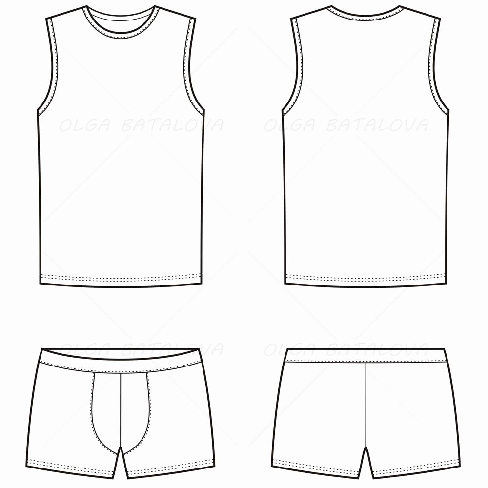 Tank top Template Lovely Men S Boxer Brief & Tank top Fashion Flat Template