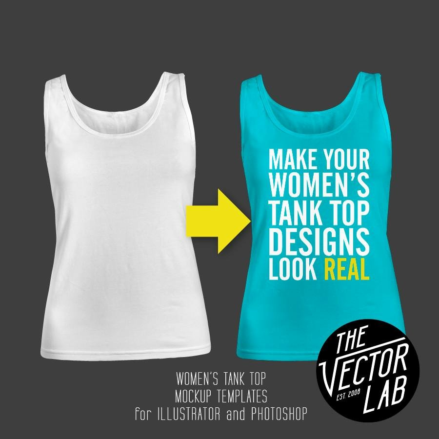 Tank top Template New Women S Tank top Mockup Templates thevectorlab