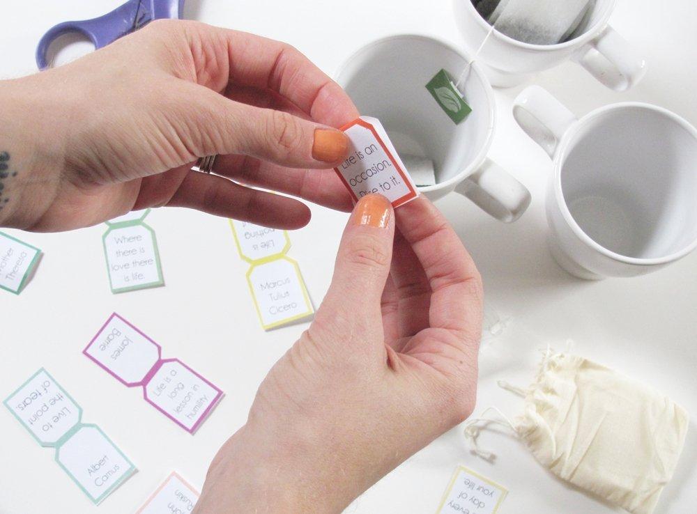 Tea Bag Tags Template Awesome How to Sday Quotable Tea Bag Tags Shrimp Salad Circus