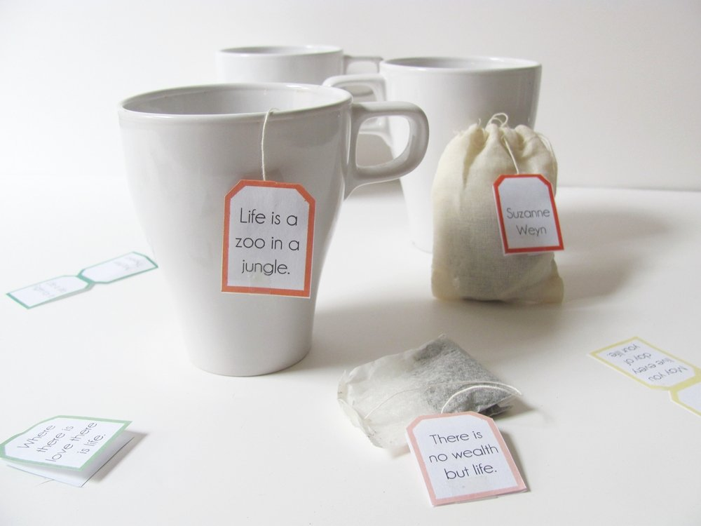 Tea Bag Tags Template Fresh How to Sday Quotable Tea Bag Tags Shrimp Salad Circus