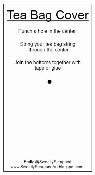 Tea Bag Tags Template Luxury Sweetly Scrapped Tea Bag Covers and Template