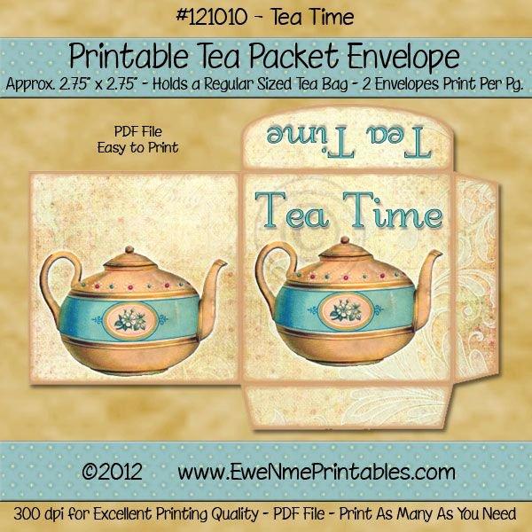 Tea Bag Tags Template Luxury Tea Bag Envelope Tea Time Vintage Free