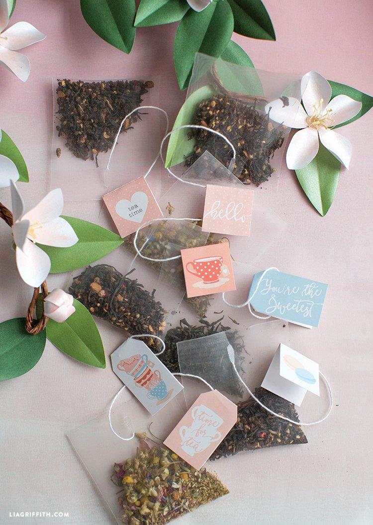 Tea Bag Tags Template Unique Printable Tea Tags Lia Griffith