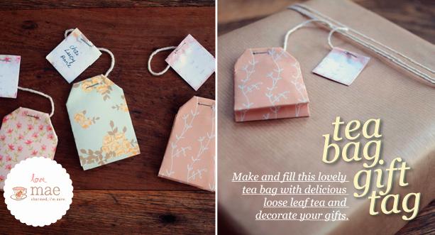 Tea Bag Tags Template Unique Tea Bag Gift Tag Tutorial