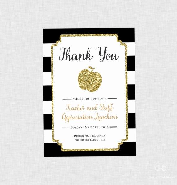 Teacher Appreciation Luncheon Invitation Awesome Teacher Appreciation Invitation Apple Printable Teacher