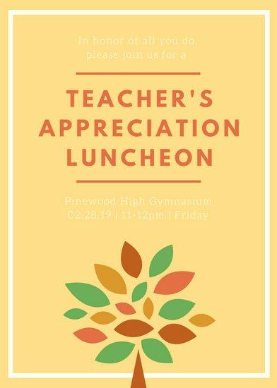 Teacher Appreciation Luncheon Invitation Best Of Luncheon Invitation Templates Canva