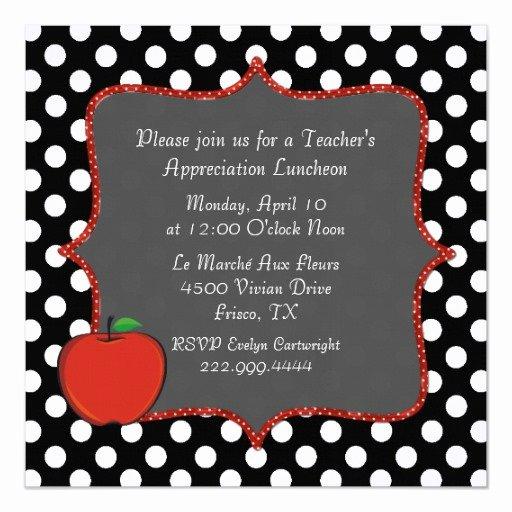 Teacher Appreciation Luncheon Invitation Best Of Stylish Polka Dot Teacher S Luncheon Invitation
