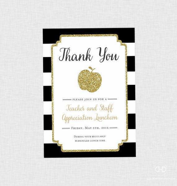 Teacher Appreciation Luncheon Invitation Best Of Teacher Appreciation Invitation Apple Printable Teacher