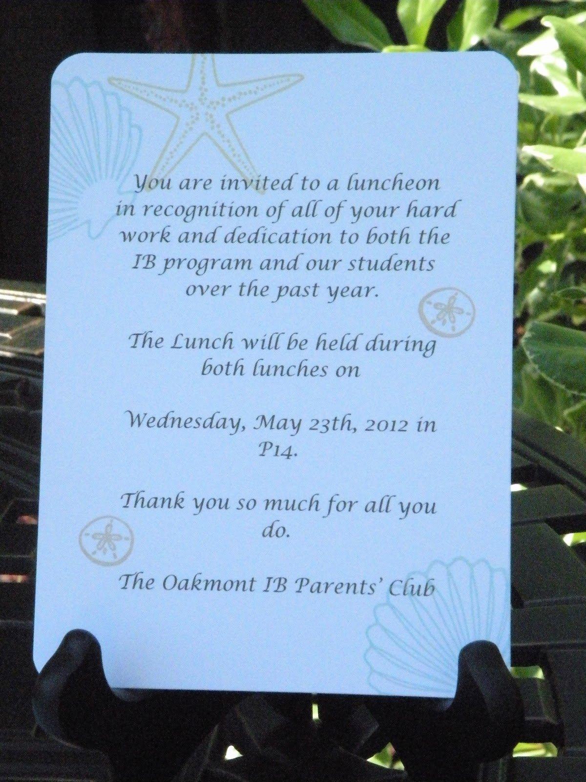 Teacher Appreciation Luncheon Invitation Elegant My Paper Paradise Teacher Appreciation Luncheon Invite