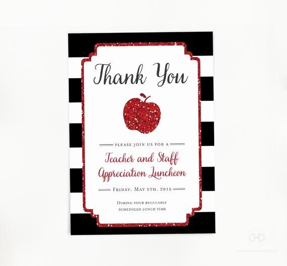 Teacher Appreciation Luncheon Invitation Elegant Teacher Appreciation Invitation Apple Printable Teacher