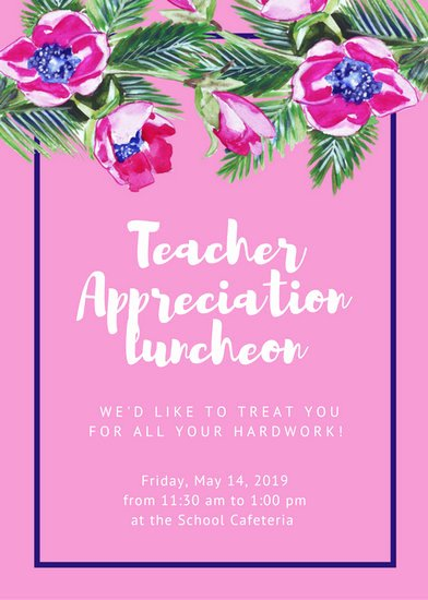 Teacher Appreciation Luncheon Invitation Fresh Luncheon Invitation Templates Canva