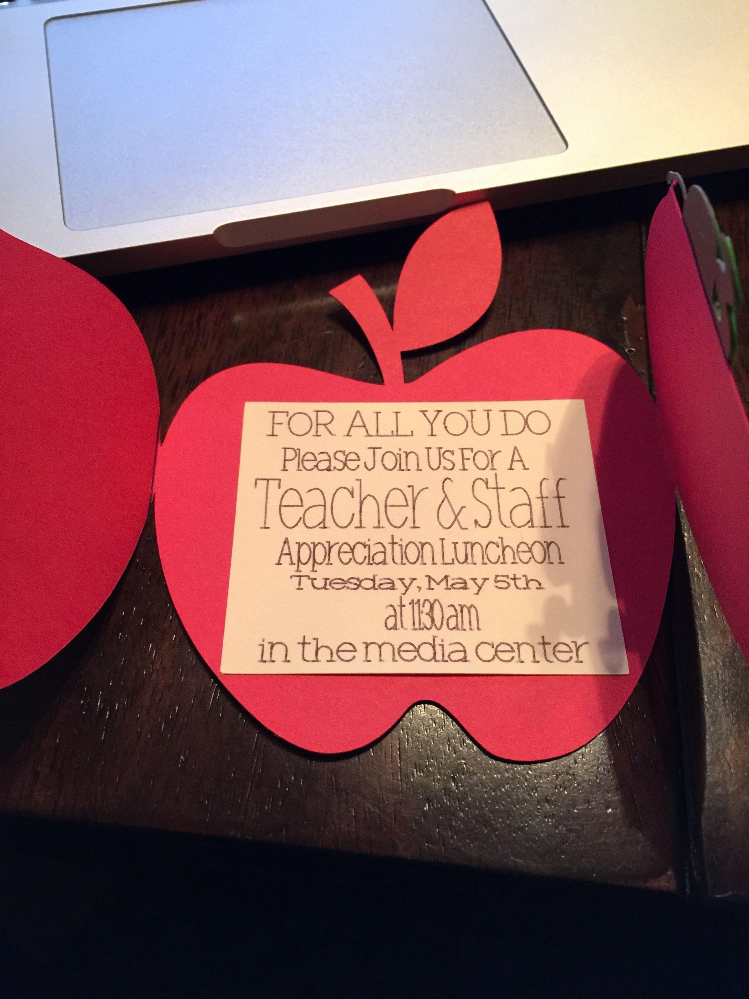 Teacher Appreciation Luncheon Invitation Fresh Teacher Appreciation Luncheon Invite 2015