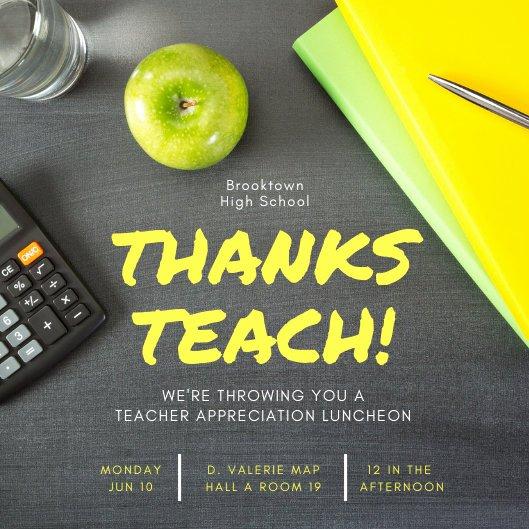 Teacher Appreciation Luncheon Invitation Lovely Desk Flatlay Teacher Appreciation Lunch Invitation