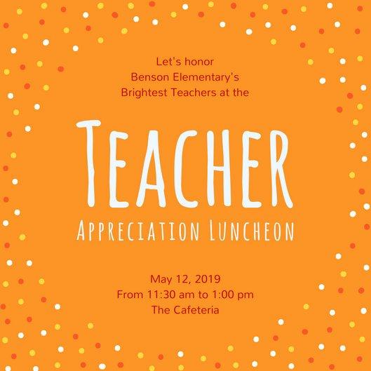 Teacher Appreciation Luncheon Invitation Lovely Luncheon Invitation Templates Canva