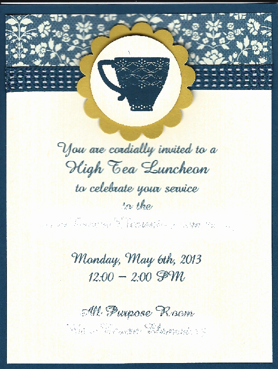 Teacher Appreciation Luncheon Invitation New High Tea Invitation for Elementary School Teacher