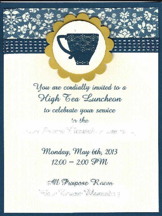 Teacher Appreciation Luncheon Invitation New High Tea Invitation for Elementary School Teacher