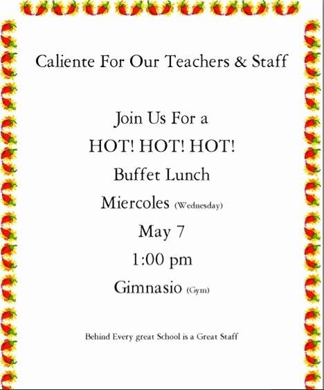 Teacher Appreciation Luncheon Invitation New Luncheon Invitation to Staff for Teacher Appreciation Week