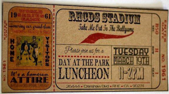 Teacher Appreciation Luncheon Invitation Unique Teacher Appreciation Luncheon Baseball theme Home Run