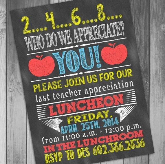 Teacher Appreciation Luncheon Invitation Unique Teacher Appreciation Printable Teacher Appreciation