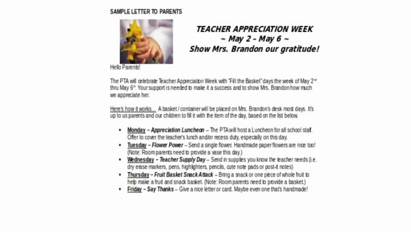 Teacher Appreciation Week Letters Awesome Teacher Appreciation Letters 7 Free Documents In Word Pdf