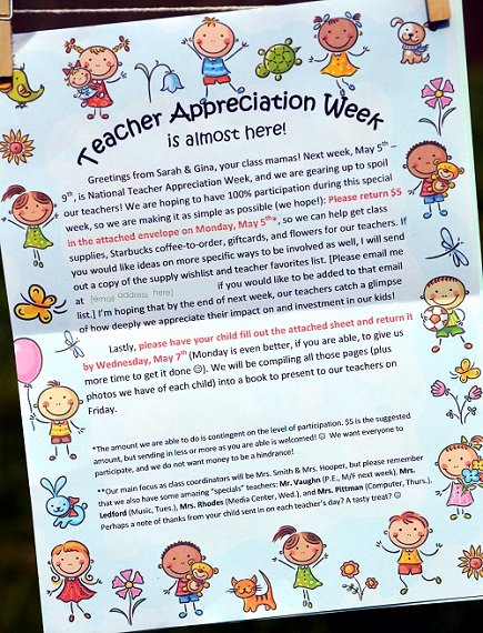 Teacher Appreciation Week Letters Fresh How to Rock Teacher Appreciation Week Part 1