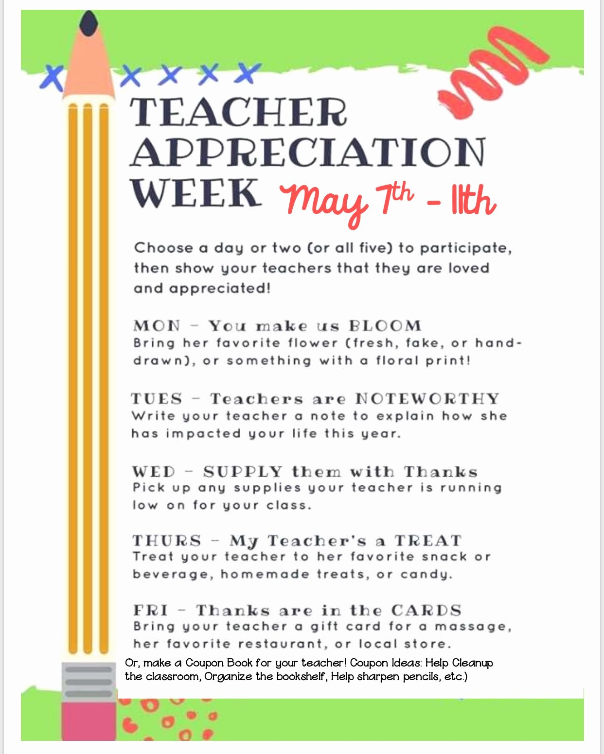 Teacher Appreciation Week Letters Unique Acsp News
