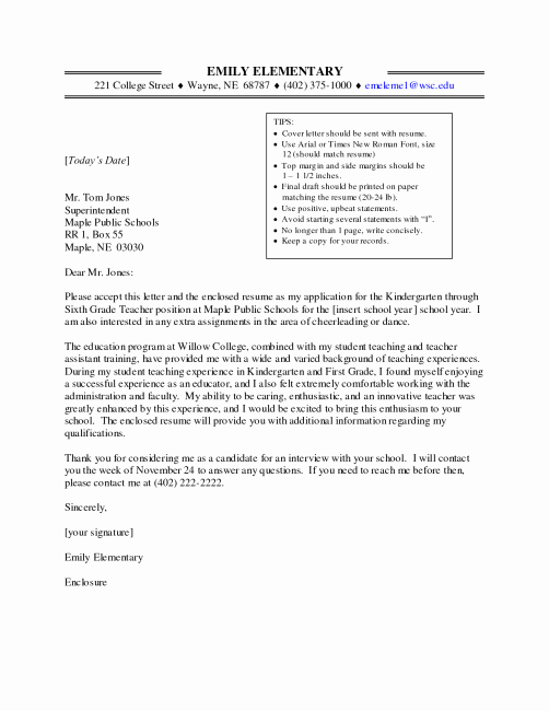 Teacher Cover Letter with Experience Fresh Math Teacher Cover Letter No Experience