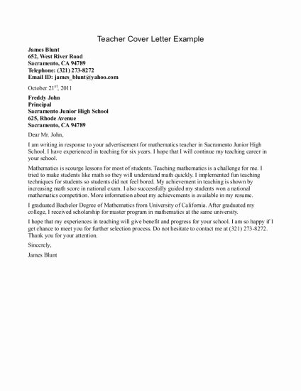 Teacher Cover Letters with Experience New 13 Best Images About Teacher Cover Letters On Pinterest
