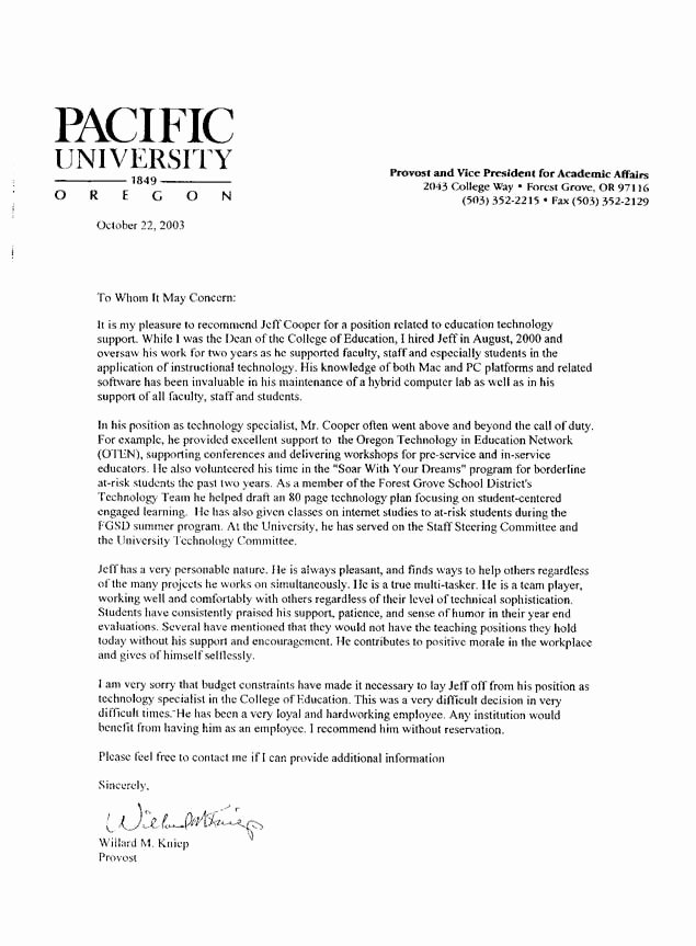Teacher Letters Of Recommendation Inspirational Sample Letter Of Re Mendation for Teacher