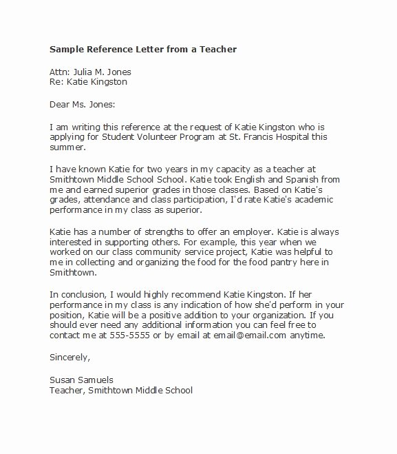 Teacher Letters Of Recommendation Unique 50 Amazing Re Mendation Letters for Student From Teacher